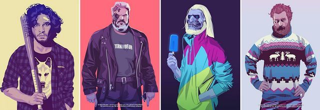 Fan Art: Game of Thrones Characters Reimagined as Everyday People from the '80s & '90s Is Hilariously Spot On! | moviepilot.com
