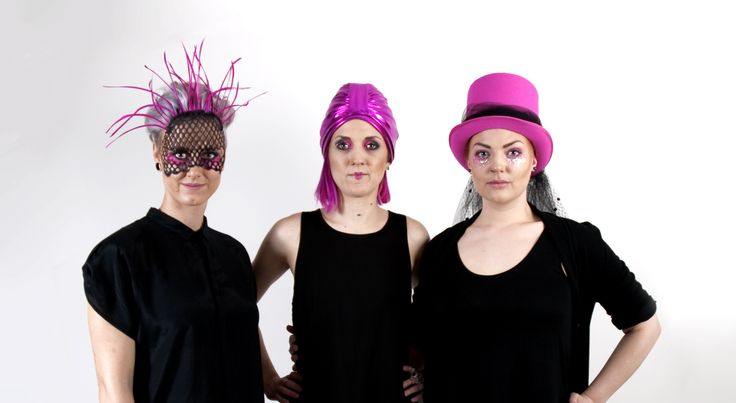 """""""Perfectly Pink"""" Hats by student Sara """"Pirat"""" Wahlmark"""