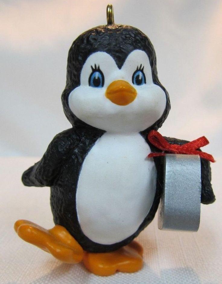 1986 Hallmark Keepsake  Ornament  Special Delivery  Penguin with Sardine Can #Hallmark
