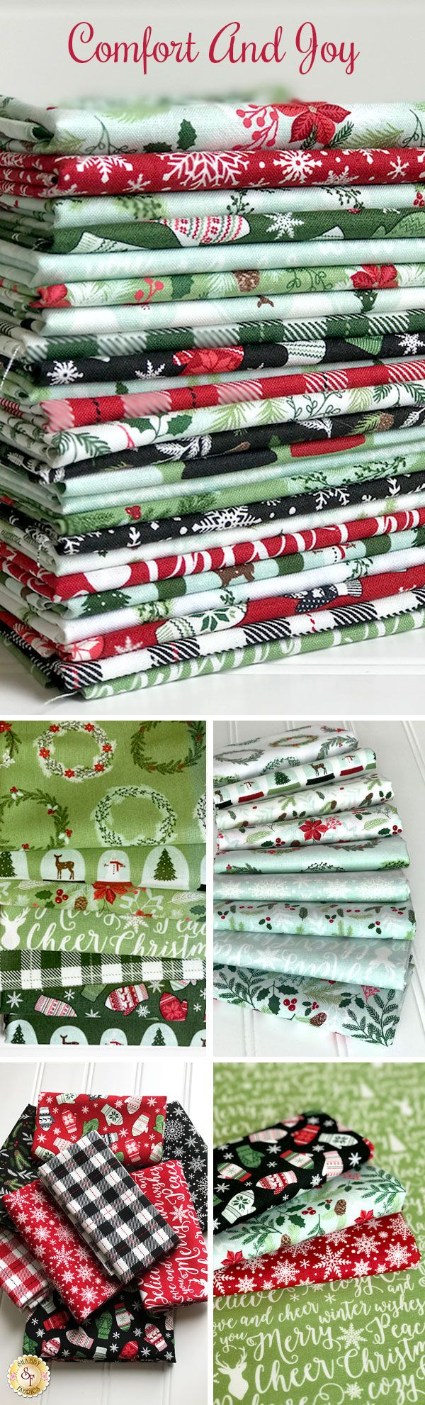 Comfort And Joy by Dani Mogstad for Riley Blake Designs is a beautiful Christmas collection available at Shabby Fabrics!