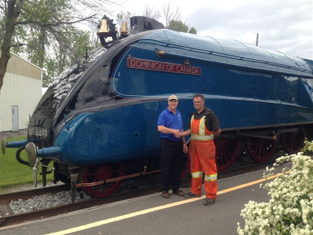 EXPORAIL, le Musée ferroviaire canadien / the Canadian Railway Museum - Le grand retour de la Dominion of Canada / The great return of the Dominion of Canada   C.Stephen Cheasley, President of Exporail and Andrew Goodman, President of Moveright international (14)
