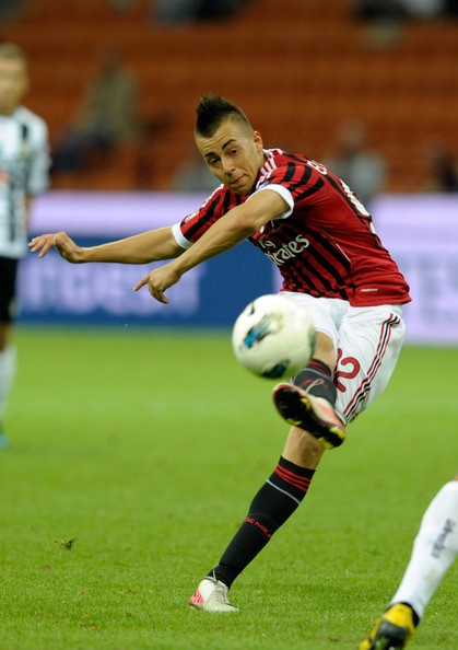 Stephan El Shaarawy (born 27 October 1992 in Savona, Italy) is an Italian professional footballer who plays as a striker for Serie A club Milan. He is a current member of the Italy U21 national team.     He made his debut with the Italy U-21 team on 15 November 2011, in a qualifying match against Hungary. On 15 August 2012, he made his debut with the senior Italian team, playing as a starter in a friendly game against England.