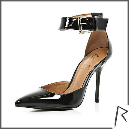 #RihannaforRiverIsland Black Rihanna patent pointed stilettos. #RIHpintowin click here for more details >  http://www.pinterest.com/pin/115334440431063974/
