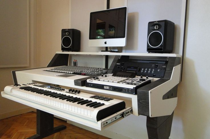 Exceptional Mid Size 61 Key Studio Desk For Audio / Video / Music / Film / Production | Studio  Desk, Music Film And Desks