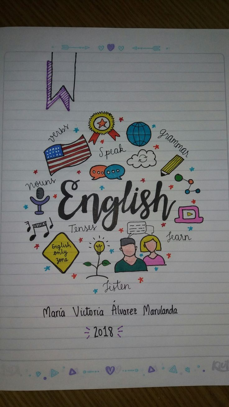 Cuaderno Inglés English Notebook
