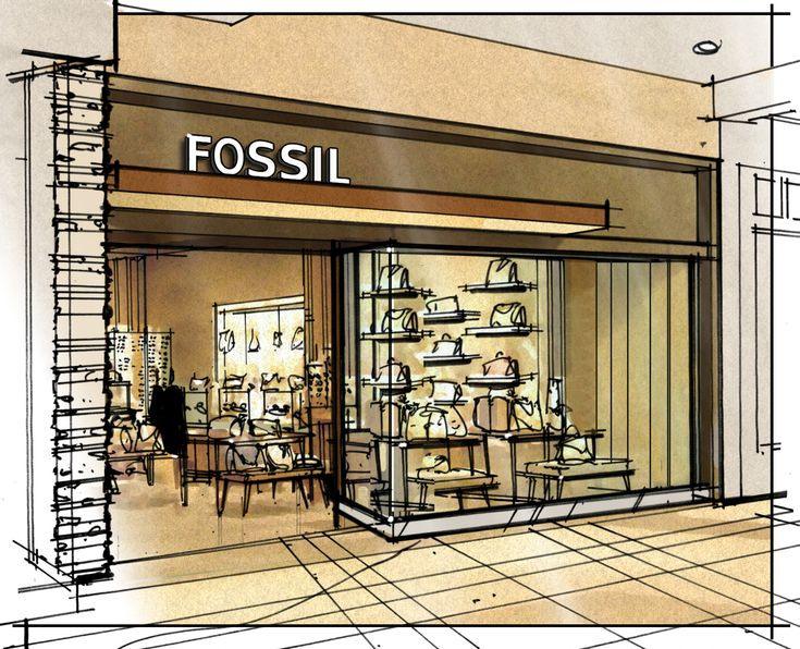 Interior Design Color Sketches color sketchesjonathan knodell at coroflot ~ fossil