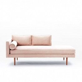 West Elm Monroe Midcentury Chaise Lounger
