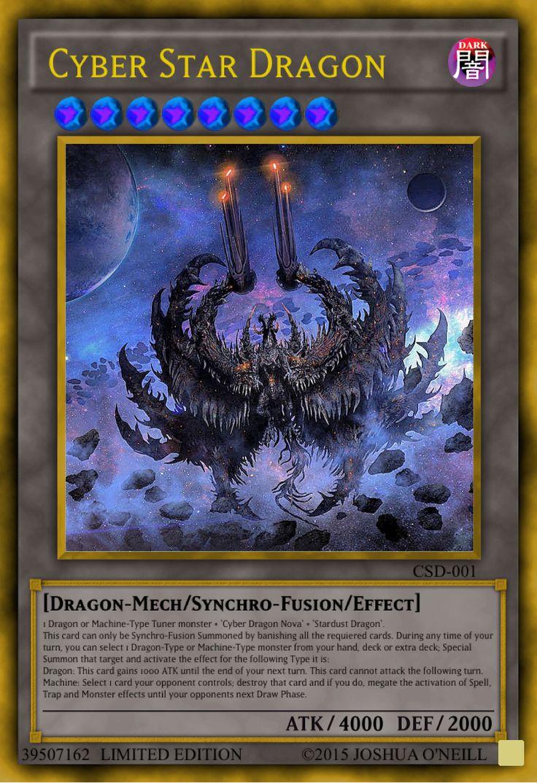 Cyber star dragon custom yugioh cards yugioh dragon