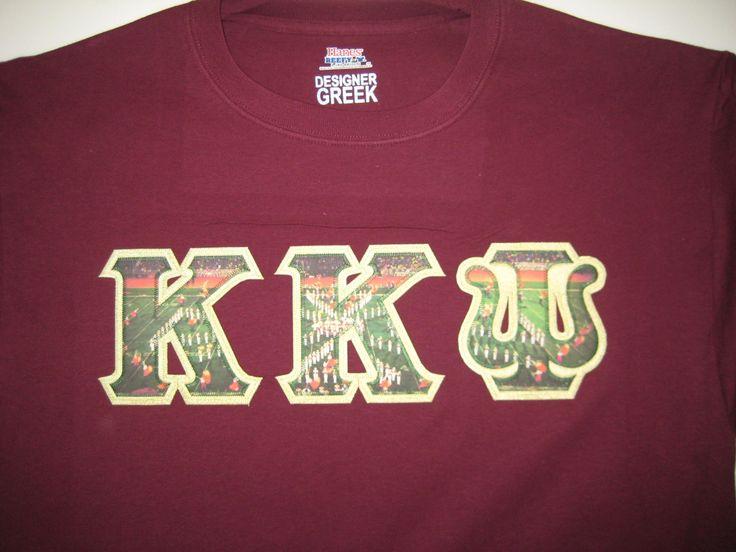 kappa kappa psi custom greek fabric letters