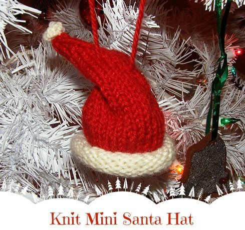Blog post at Growing Up Gabel : I love to make knitted Christmas ornaments with leftover yarn from other projects. This knit mini Santa hat and knit Christmas tree orname[..]