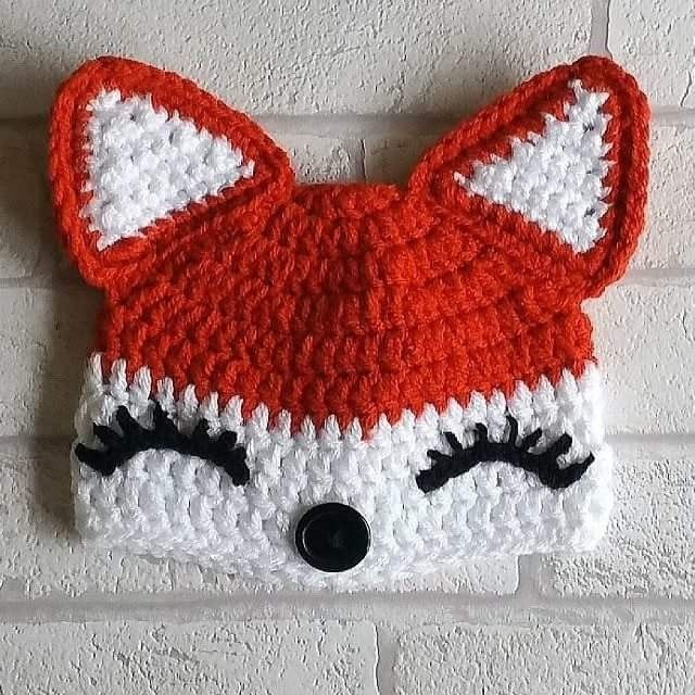 Crochet girls fox hat pattern.  My favourite baby hat pattern so far!