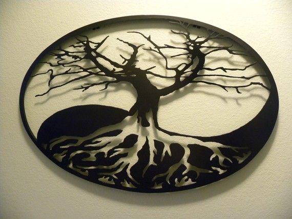 Ying Yang Tree of Life Wall Sculpture