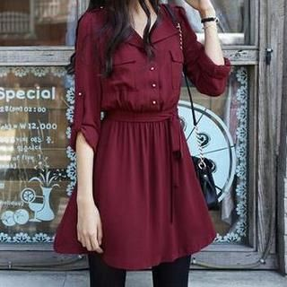 Tie-Sash Shirtdress from #YesStyle <3 Jolly Club YesStyle.com