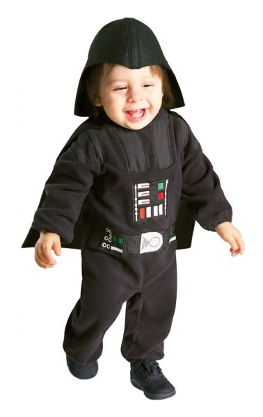Star Wars Darth Vader Costume - Toddler size 2-4 (1-2 yrs)  E Z On Romper Halloween Costume  Includes: Separate Headpiece and Romper with detachable cape!  Colorful chest decoration is embroidered on!  Easy on and off, Velcro closures on legs and at back of neck.  Toddler size 2-4 (1-2 yrs)