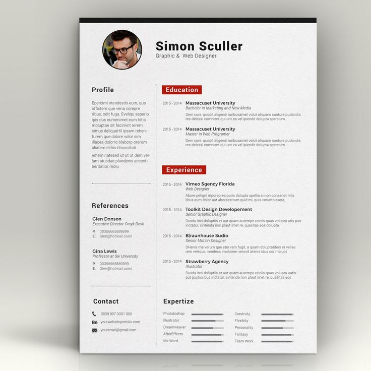 cv template by estart on creative market