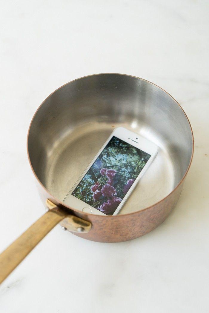 A Copper Pan Doubles As A Sound Amplifier For Heidiu0027s IPhone. Heidi Swanson  101 Cookbooks