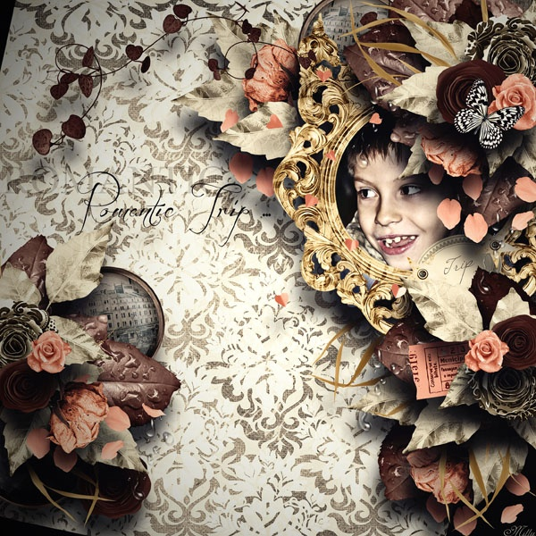 Romantic Trip by Celinoa Scrap  template My Templates Vol 3 by Celinoa Scrap