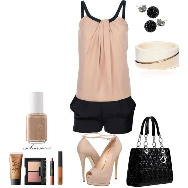 """""""nudist"""" by iamrockinromine on Polyvore - would be cute with black pants or jeans"""