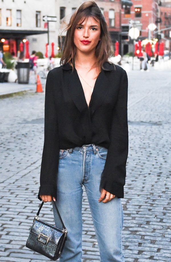 It will not come as a huge surprise when we tell you French girls have a knack for making denim look both insanely cool and perfectly polished. Seriously, what can't they do? Here, we share the silhouettes—and what to pair them with—to achieve Parisian panache in the denim department.