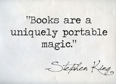 Books are a uniquely portable magic. quote by Stephen King