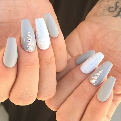 coffin shape nails | Tumblr
