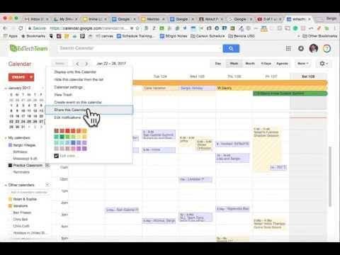how to use google classroom calendar
