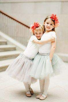 Coral and gray Flower Girl - Wedding Diary