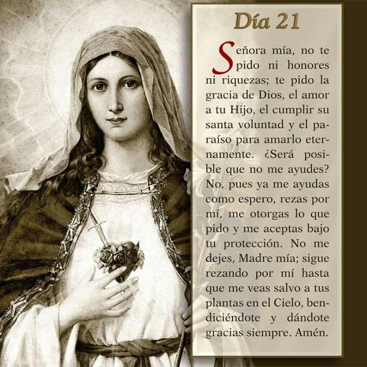 Oración día 21, Mayo mes de María