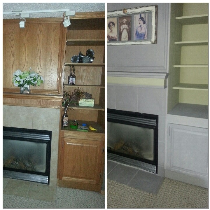Fire place make over van gogh Chivalry and Muse