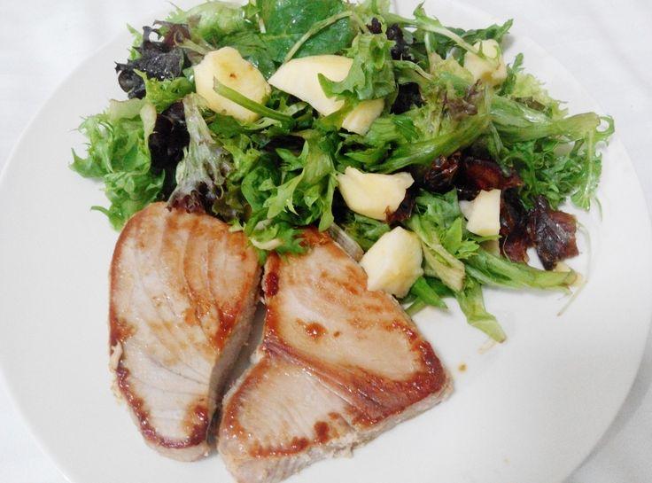#TunaSteak and Apple #Salad  #HealthyEats