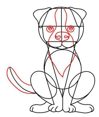 draw a sitting dog step 6 | Dog Tricks | Pinterest | How ...