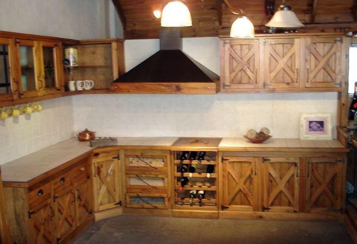 Muebles estilo campo en pino cocina pinterest pino for Muebles de cocina estilo brocante