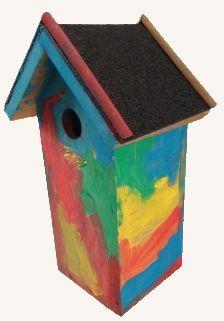 Vogelhuisje voor Opa's verjaardag, Vaderdag en gewoon voor de leuk! Een vogelhuisje beschilderen....Knutselen met kinderen, knutseltips, knutselidee, www.kinderknutseltips.nl