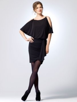 Slit sleeve matte jersey dress with blouson top and ruched skirt [#N5052D57801021] - $150.00 : Crazeparty.com, Dare to be Different!