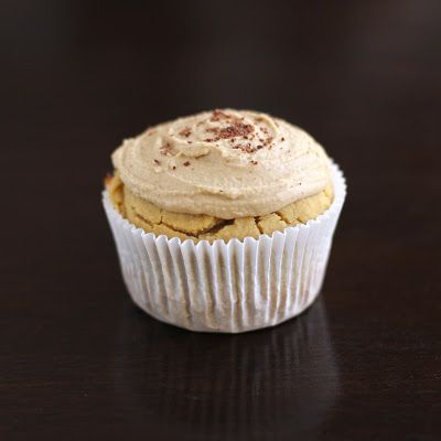 Healthy Vanilla Toffee Quinoa Cupcakes with Toffee Frosting (sugar free, low fat, high protein, gluten free, vegan)
