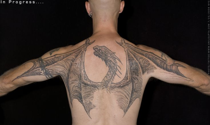 Anil Gupta Mythological Tattoos. #dragon_tattoo #back_tattoo #tattoo
