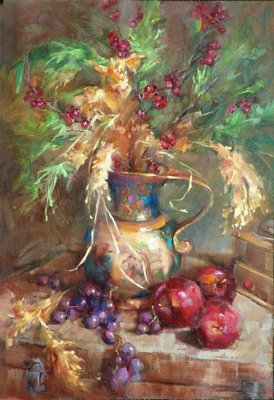 Fine watercolor art for sale -  Satsuma Pitcher Original Fine Art By Barbara Schilling