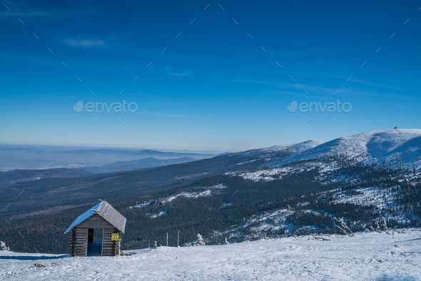 Wooden shelter on the mountain - Stock Photo - Images Download here : https://photodune.net/item/wooden-shelter-on-the-mountain/20094426?s_rank=216&ref=Al-fatih