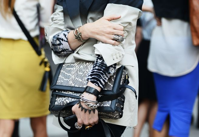 Tommy Ton Shoots the Street-Style Scene at the Spring 2013 Shows: Street Fashion, Snakes Skin, Rocks Nyfw, Street Style, Accessories, Tommy Ton, Snakeskin, Bags, Ton Rocks