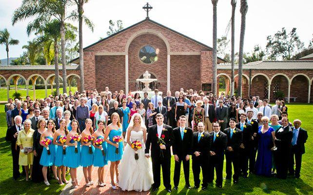 свадебный снимок групповой