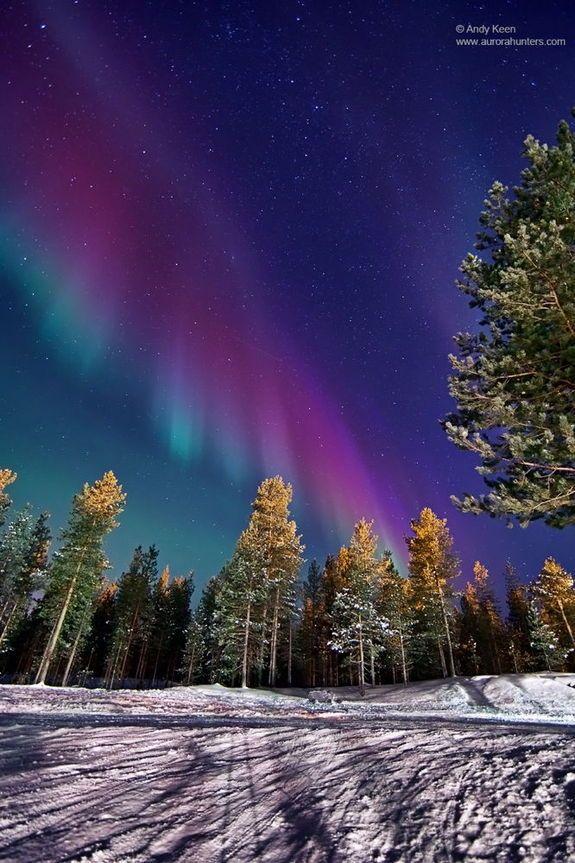 aurora over Ivalo, Northern Lapland, Finland