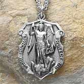 St. Michael Law Enforcement Mens Badge Pendant  Happy National Police Week Stay Safe!