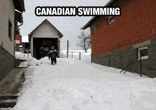 Así se nada en Canadá