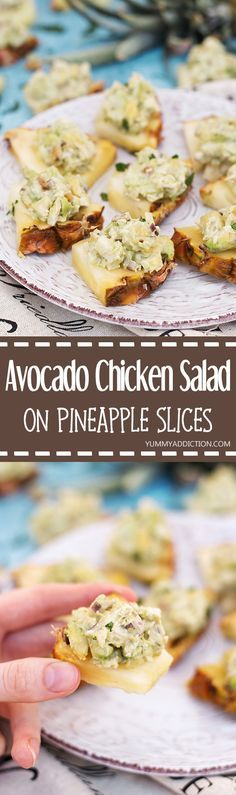 Have you ever tried Have you ever tried serving Avocado Chicken Salad on Pineapple Slices? A great appetizer for any occasion your friends and family will absolutely love! | yummyaddiction.com Recipe : http://ift.tt/1hGiZgA And @ItsNutella  http://ift.tt/2v8iUYW
