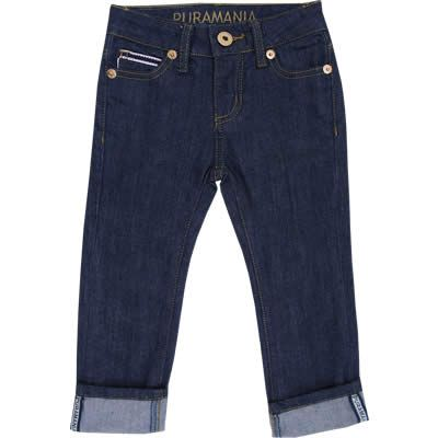Calça Jeans Infantil Masculina com Barra Dobrada - Puramania