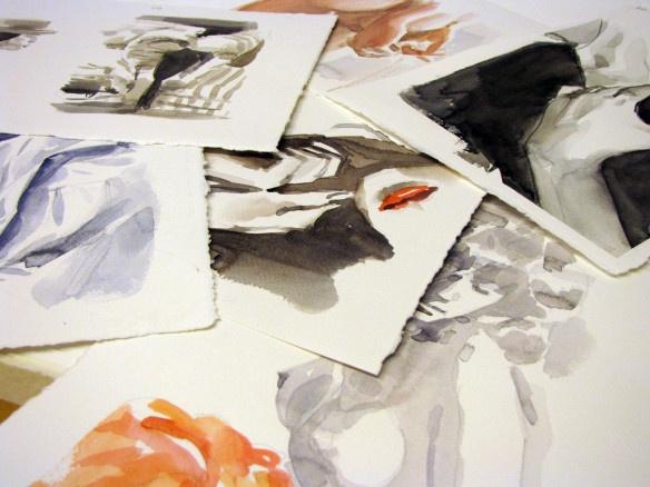 Lookbook, 2013. Watercolours