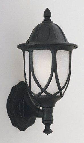 Designers Fountain 2867-BK Capella Collection 1-Light Exterior Wall Lantern, Black Finish with Satin Crackled Glass by Designers Fountain. $53.34. Designers Fountain 2867-BK Capella Collection 1-Light Exterior Post Mount features classic form and function in the stylish updated design of the classic wall lantern. Finished in a Black finish with Satin Crackled glass. Install anywhere outdoors that might need some exquisite charm and optimum illumination. The 2867-BK is 6.5-Inch wi...