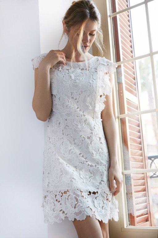Kampania TOP SECRET wiosna 2017 spring 2017 ss17 white dress lace biała ażurowa sukienka na wiosnę na lato romantyczna sukienka