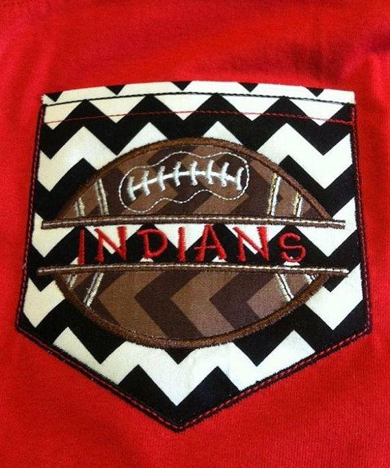 Short Sleeve Chevron Pocket tee your school football team. Great for little league, middle & high school, even college  Custom shirt