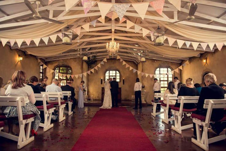 Bunting flags in Casa-lee Country Lodge chapel www.casa-lee.co.za Ett Venter photography